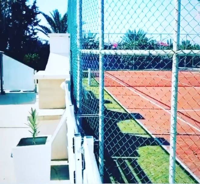 The property comes complete with a tennis court