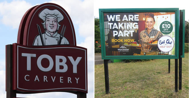 Are Toby Carvery and Harvester still offering Eat Out To Help Out schemes?