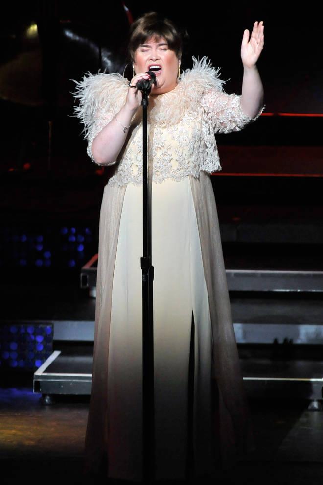Susan Boyle on stage