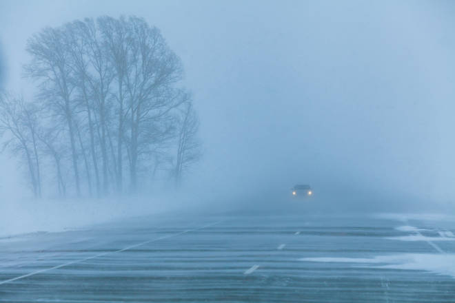 Frosty roads and fog