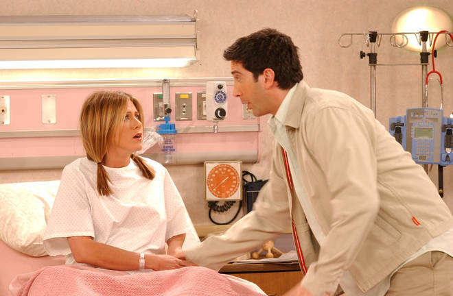 Ross and Rachel had an on off relationship during Friends