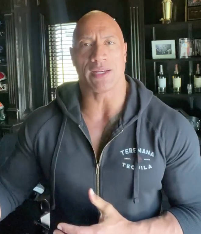 """Dwayne Johnson said testing positive for COVID-19 was a """"kick in the gut"""""""