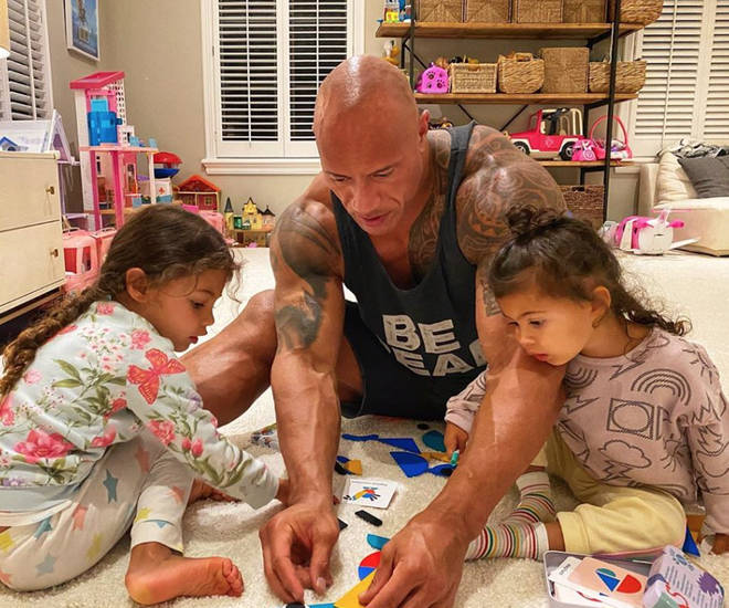 The Rock's two daughters, Tiana and Jasmine, also tested positive for the virus