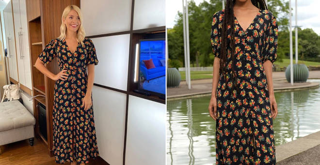 Holly Willoughby is wearing a Rixo dress