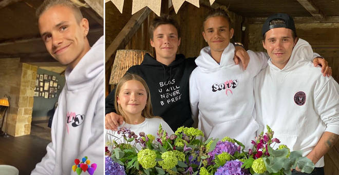 Romeo Beckham celebrated his 18th birthday with an intimate family gathering