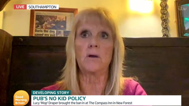 Lucy the landlady said that locals have supported her decision to ban children from the pub