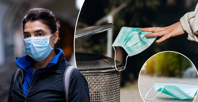 The RSPCA has warned plastic face masks can harm wildlife
