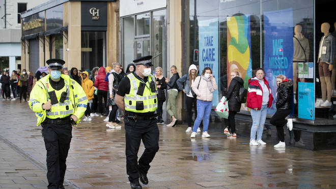 Hundreds of shoppers have been queuing outside Primark