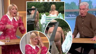 Holly Willoughby and Phillip Schofield left screaming as nudist man almost reveals penis live on This Morning