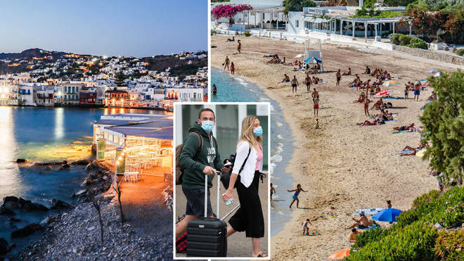 Which Greek islands are on England's quarantine list?