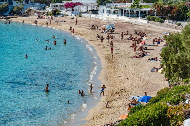 Lesvos, Tinos, Serifos, Mykonos, Crete, Santorini and Zakynthos have been affected