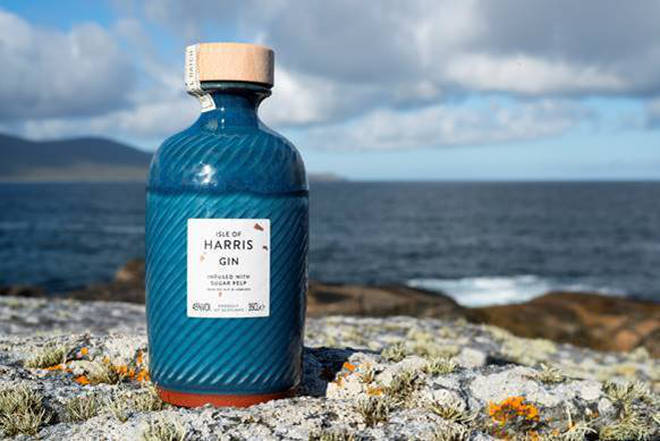 The gorgeous bottle is inspired by the colours of the island