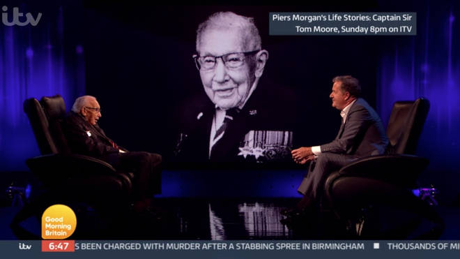 Captain Tom Moore and Piers Morgan spoke about the passing of Vera Lynn
