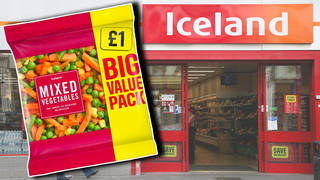 Iceland is giving a free bag of veg to families on Universal Credit