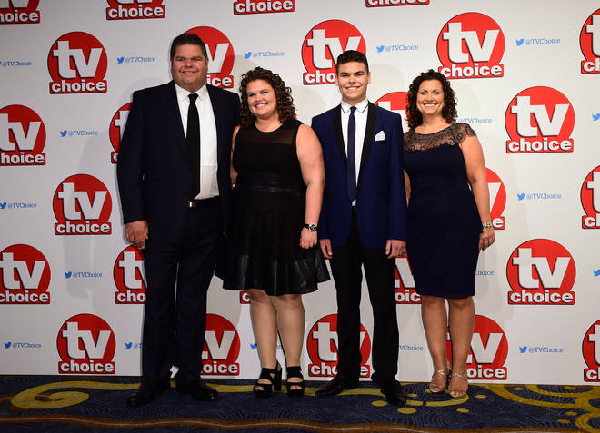 The Tapper family on the red carpet at the TV Choice Awards