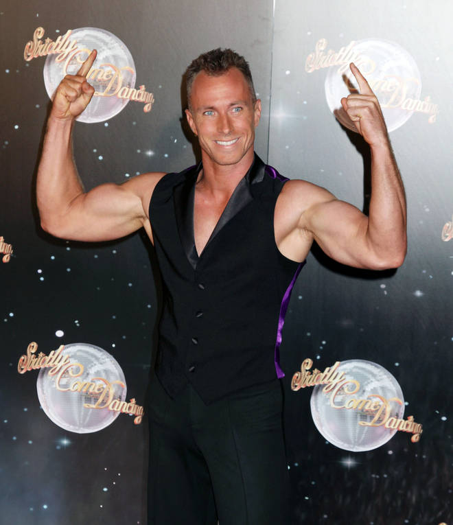 James at the launch of Strictly Come Dancing in 2012