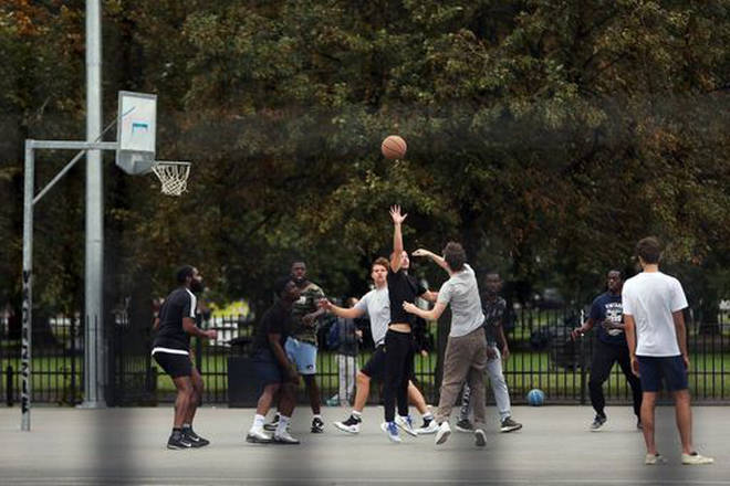 Larger groups will no longer be able to meet to play team sports in the park