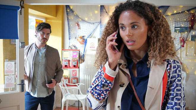 Chantelle is dragged back to Walford by Gray