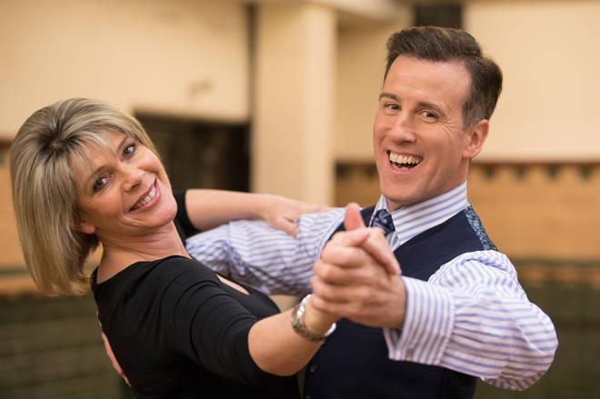 Anton Du Beke with his 2017 dance partner Ruth Langsford