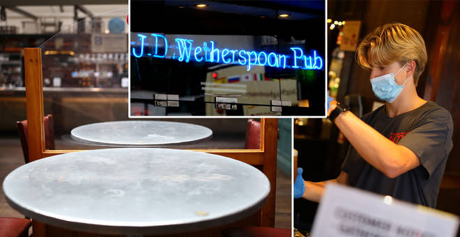 Wetherspoons haven't confirmed which pubs are affected