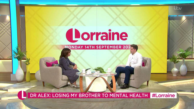 """Dr Alex George told Lorraine it was the """"toughest time"""" of his life"""