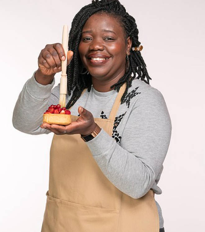 Hermine from Great British Bake Off