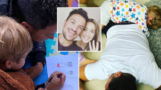 Peter Andre has joked that his son Theo could really belong to gardener Dan...