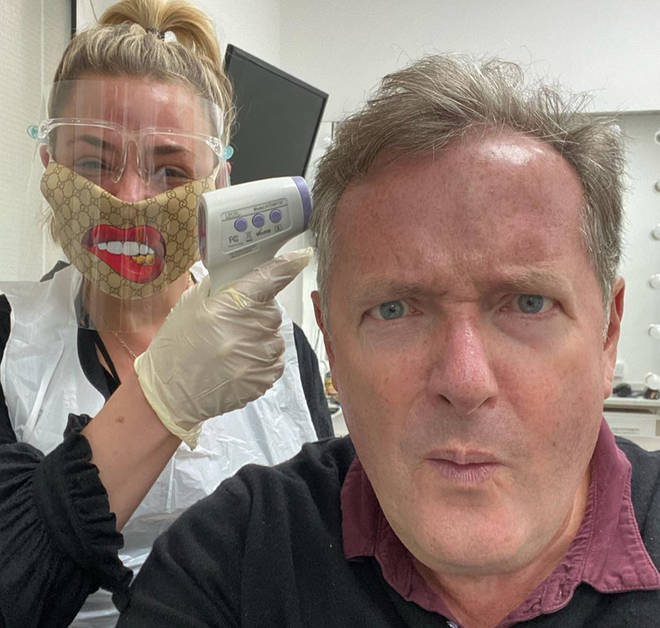 Lisa Armstrong does Piers Morgan's makeup for Life Stories