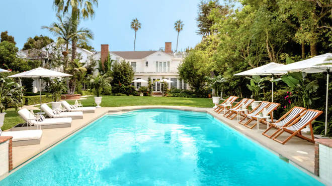 Guest can chill by the Fresh Prince of Bel-Air pool