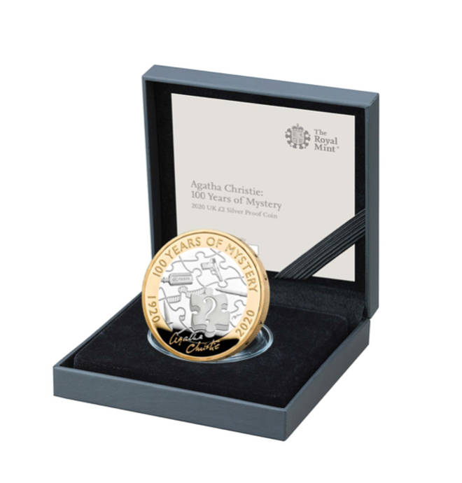 The £2 coin was designed by David Lawrence, and features a puzzle print