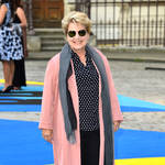 Sandi Toksvig is the host of the Great British Bake Off and quiz show QI