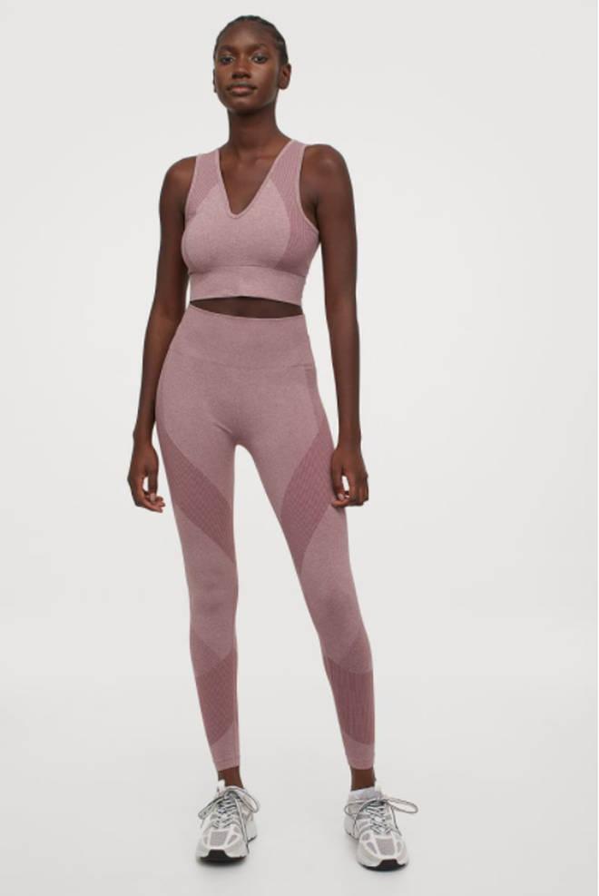 Seamless high waist tights