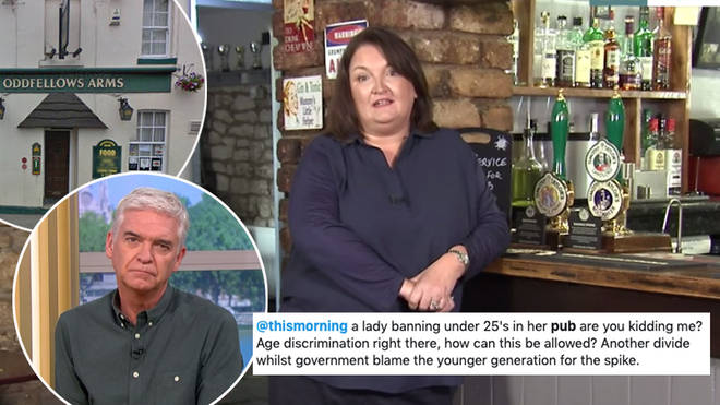 A guest on This Morning defended her decision to ban under 25s from her pub