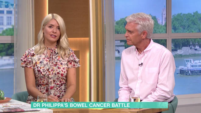 When caught early, bowel cancer has a 90 per cent rate of survival, Phil and Holly explained