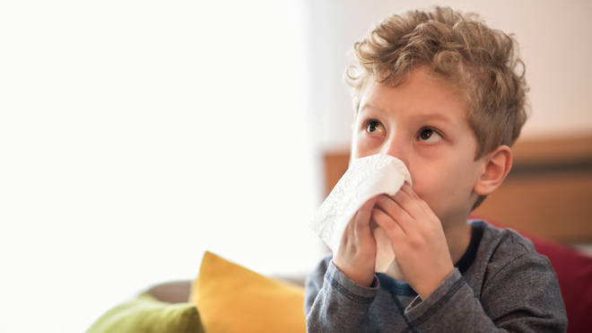 Dr Hilary urged parents to look out for other symptoms in kids with coughs and colds (stock image)