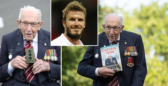 Captain Sir Tom Moore would want David Beckham to play him in a biopic