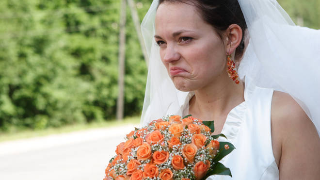 The bride was less than impressed by her choice of gift (stock image)