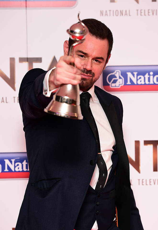 Danny Dyer scoops an NTA for his role as Mick Carter in EastEnders
