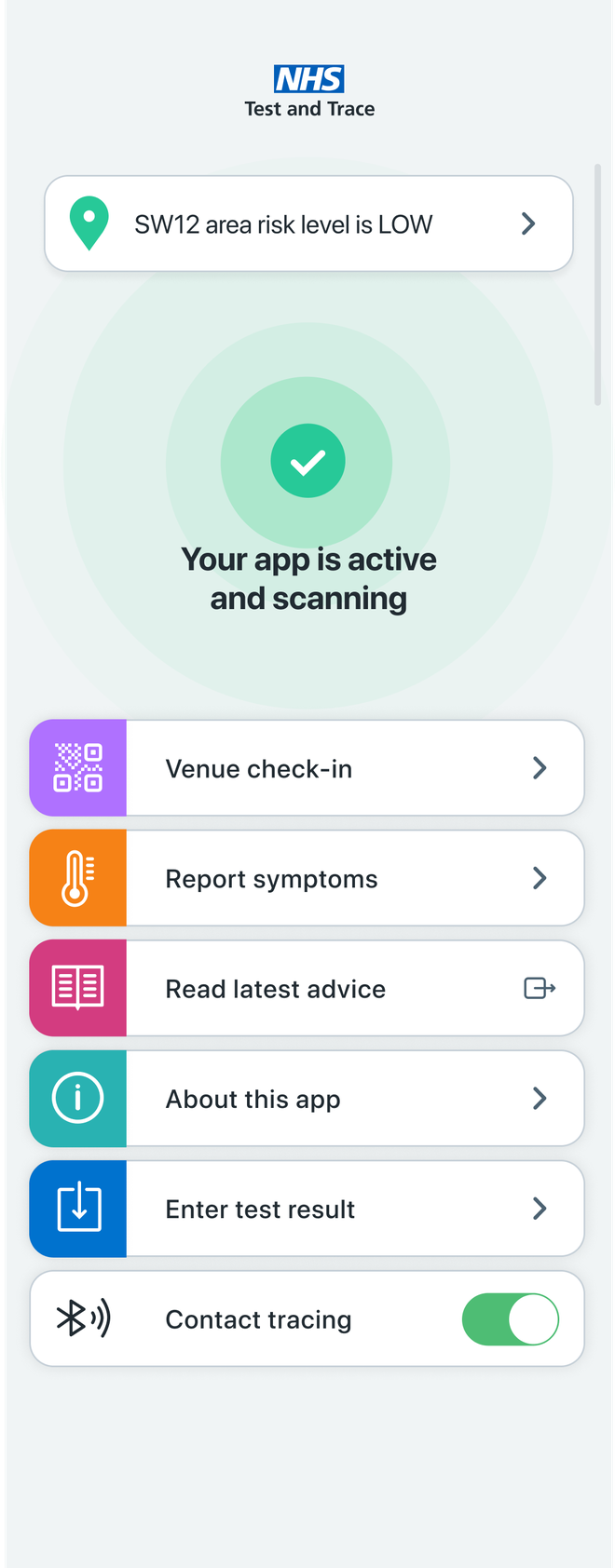 The NHS COVID-19 app is easy to use