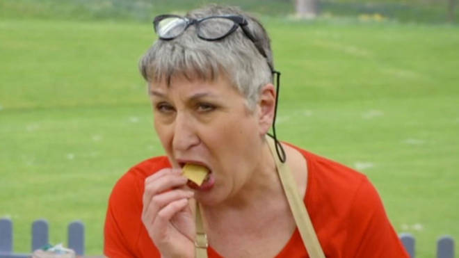 GBBO's Karen enjoyed a nibble of her baked goods