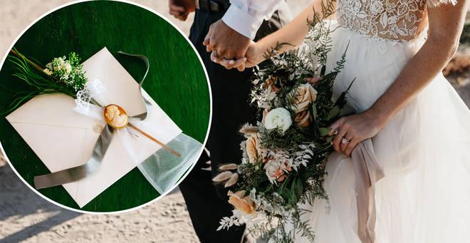The wedding invitation has been slammed online (stock images)