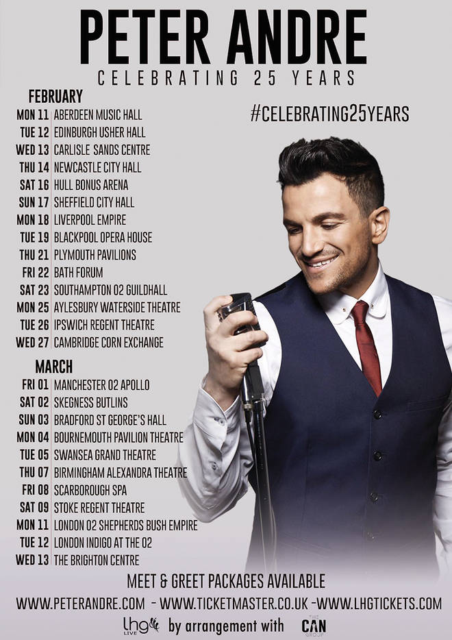 Peter Andre is embarking on a mammoth 25 date tour of the UK