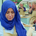 The Great British Bake Off viewers left cringing as Sura knocks Dave's cakes to the floor