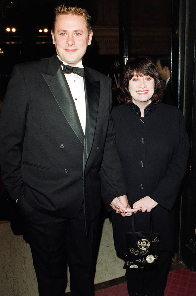 Caroline Quentin and her husband Sam Farmer in 1999
