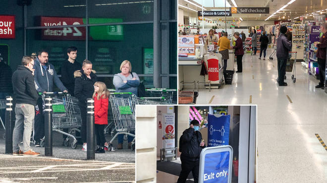 Supermarkets have given updates on their social distancing
