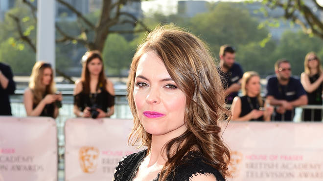 Kate Ford who plays Tracy Barlow on Coronation Street on the red carpet