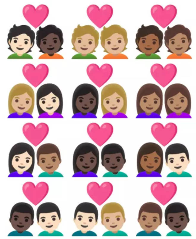 New skin tones have been added to emojis