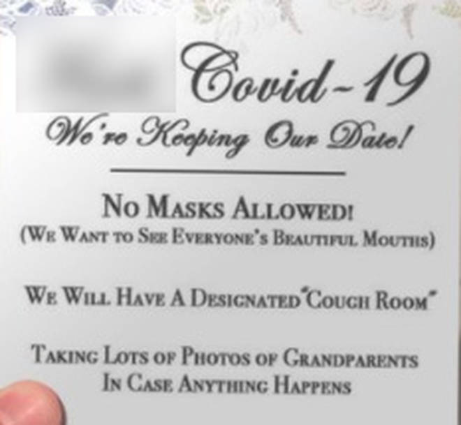 This wedding invite has gone viral