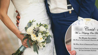 An 'offensive' wedding invitation has gone viral