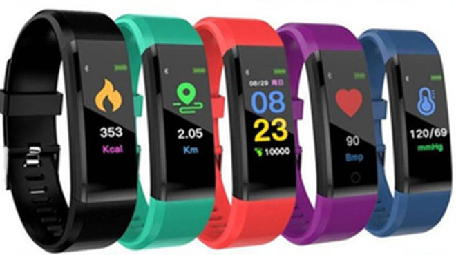 The FourFit Mini 2 fitness band designed for kids, tracks steps, activity, sleep and heart rate